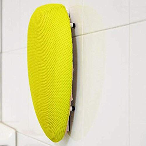 Squeechy - Exfoliating Hands Free Loofah Back Scrubber, Shower Soap Dispenser, Wall Mounted, Shower Accessories