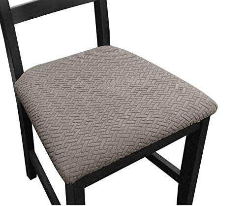 NORTHERN BROTHERS Seat Covers for Dining Room Chair Seat Covers (Set of 6, Taupe)