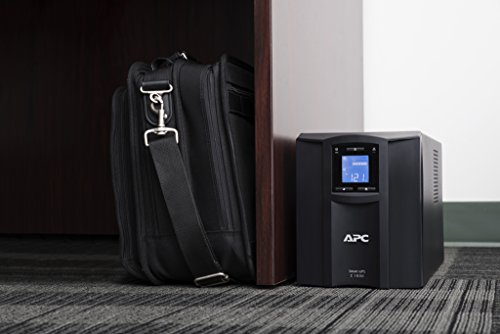 APC 1000VA Smart UPS with SmartConnect, SMC1000C Sinewave UPS Battery Backup, AVR, 120V, Line Interactive Uninterruptible Power Supply