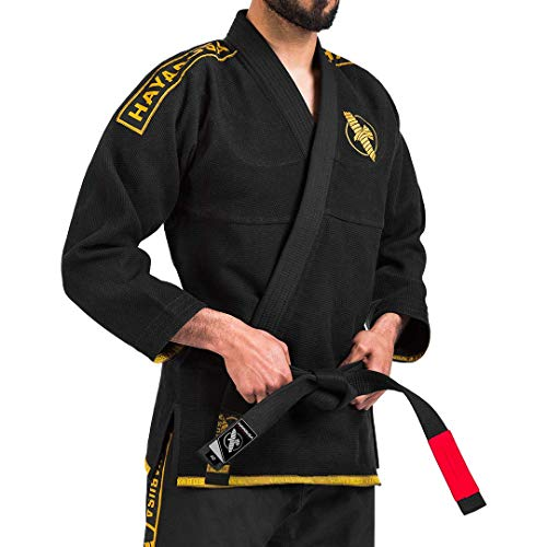 Hayabusa Lightweight Jiu Jitsu Gi - Black/Gold, A3