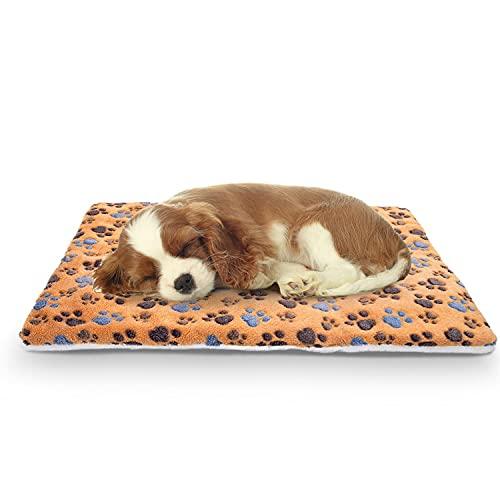 Nobleza Cama para Mascotas (Perro/Gato), súper Suave con Lindo Estampado   colchón cajón Reversible de Lana   colchón para Mascotas Lavable a máquina L70*W55CM