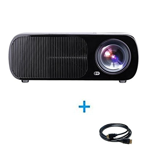 Projector, LESHP 3200 Lumens Home Video Mini Projector Support 1080P LED Portable Projector Ideal for Home Theatre Entertainment