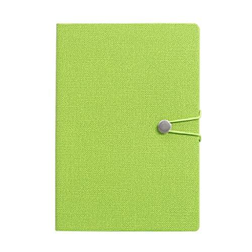 YUBIN Libro de Diario Cuadernos Diario Diario Hebilla de Metal con Cuerda con revistas de bolígrafos para Mujeres Hombres Papel College gobernado (Color : Cyan)