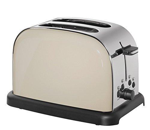 Cilio Toaster, Edelstahl, beige, 32 x 23 x 21 cm