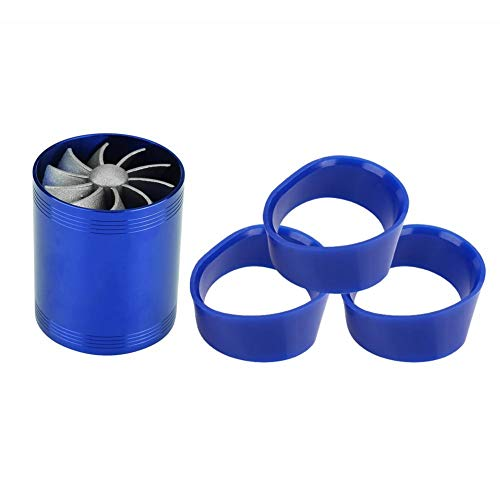 Car Turbo Supercharger,Aluminum Air Intake Turbonator Dual Fan Gas Fuel Saver Turbo (#1)