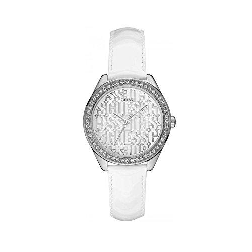 Guess Reloj Analógico para Mujer de Cuarzo con Correa en Cuero W0560L1