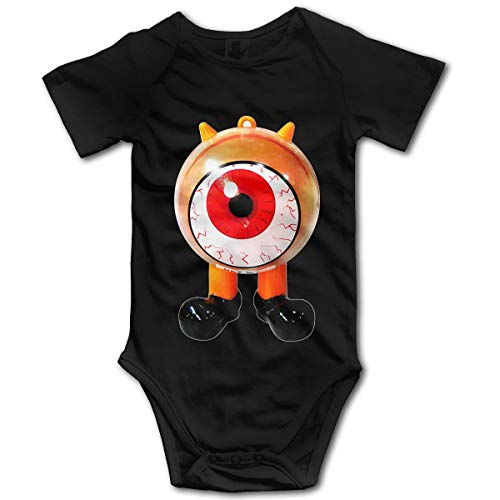Mark Stars Halloween Cyclops Monster GILR Boy's Kids Baby Romper Mono de Manga Corta para bebés y niños pequeños(18M,Negro)