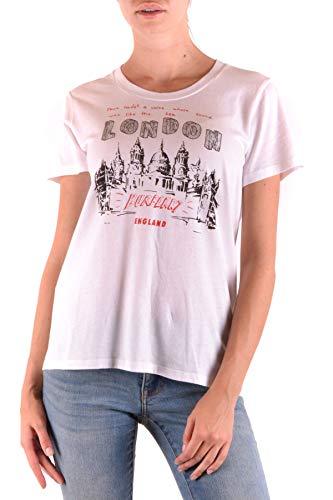 BURBERRY Damen Mcbi35861 Weiss Baumwolle T-Shirt