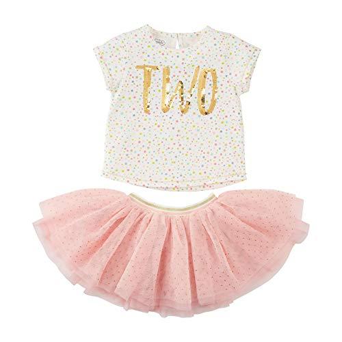 Mud Pie Baby Girls' Birthday Skirt Set, 2, 2T