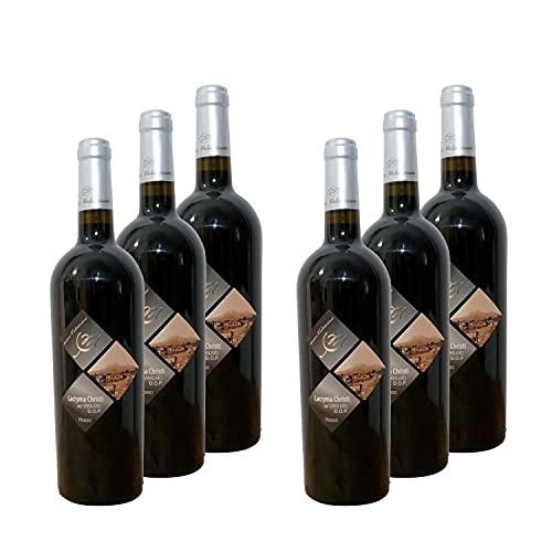 Lacryma Christi del Vesuvio DOC - 12% alc. vol.- Vino rosso - 6 bottiglie di vino da 750 ml. - Cantine Mediterranee