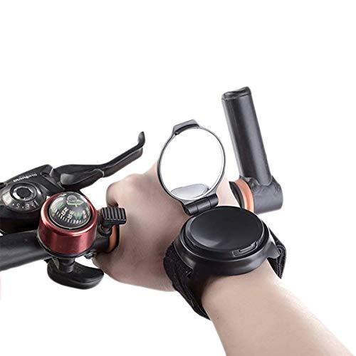 Lesrly-Cycle Espejo retrovisor de Bicicletas, Espejo de Manillar de la Motocicleta, Espejo retrovisor de Pulsera, Utilizado para montañas/Carreteras Montando Accesorios para Bicicletas
