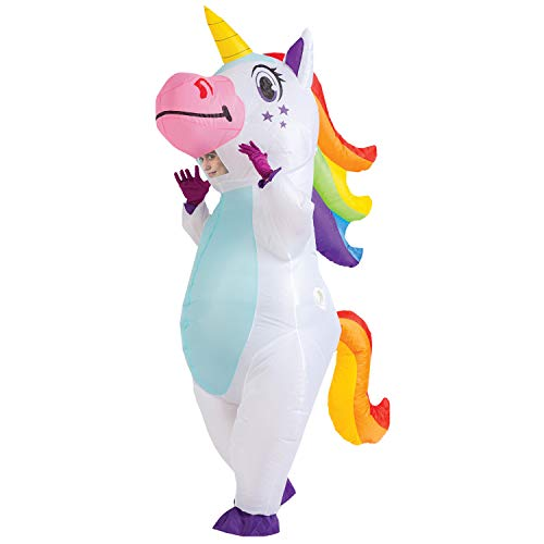 Spooktacular Creations Inflatable Costume Unicorn Full Body Unicorn Air Blow-up Deluxe Halloween Costume - Adult Size