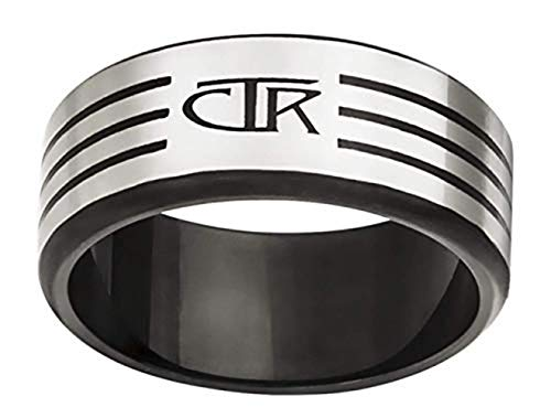 J171 Size 9 Slice Stainless Steel CTR Ring Mormon LDS Unisex One Moment In Time