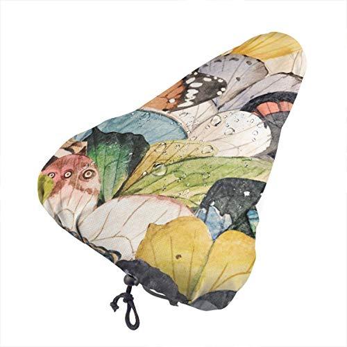 No aplicable Vintage Watercolor Butter-fly Asiento de bicicleta extra suave – Cojín para sillín de bicicleta con cubierta resistente al agua y al polvo, Universo Cielo Estrellado Con Mariposa, talla única