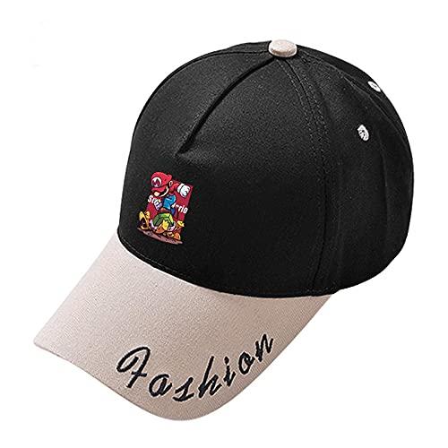 Sombrero de Super Mario Mario Super Mario Plumber Mario FC Gorras de juego Estudiantes masculinos y femeninos Ropa para niños Sombrero de béisbol