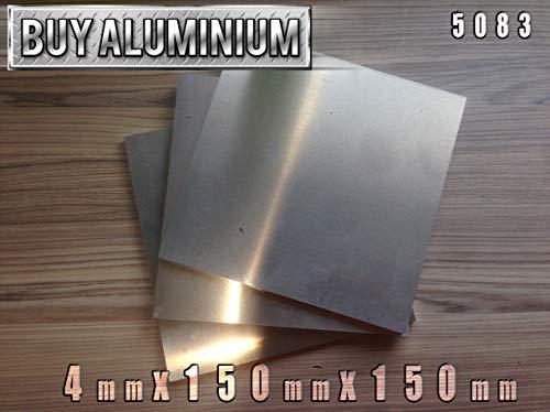 Aluminiumplatte, 4 mm, 5083, 150mm x 150mm, 1