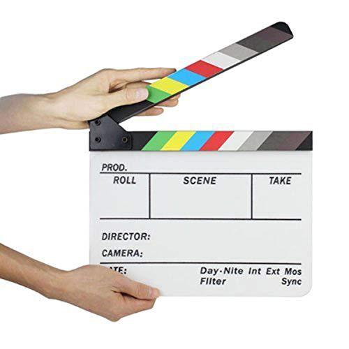 Gearmax Acrylic Clapboard Dry Erase Director Film Movie Clapper Board Slate