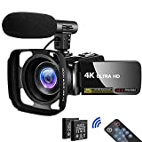 Video Camera Camcorder 4K 30MP Digital Camcorder Camera with Microphone Ultra HD Vlogging Camera with Remote Control,3 In Touch Screen