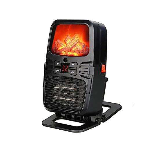 pb+ Calefactor Eléctrico Chimney Termoventilador, 1000W, Estufa Cerámica Efecto Chimenea Portátil Bajo Consumo, Estufa Aire Caliente, para Sala De Estar, Dormitorio Y Oficina