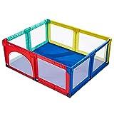 Baby laufgitter Parque Infantil Parques Bebes Parque Infantil Grande para Interiores, Sala de Centro de Actividad Plegable para niños de Viaje, 1-6 años, 150 × 150 × 70 cm (Color : A)