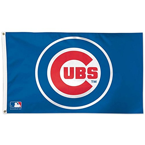 WinCraft MLB Chicago Cubs 01765115 Deluxe Flag, 3' x 5'