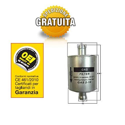 FILTRO MANUTENZIONE IMPIANTO A GAS GPL/METANO UNIVERSALE Ø 14 mm CODICE 67R-010278