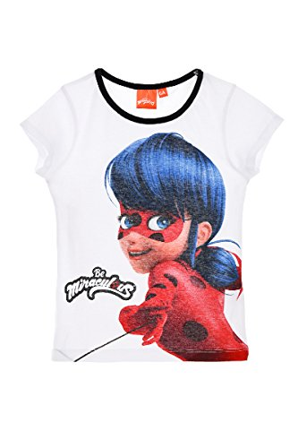 T-shirt fille Miraculous Ladybug manches courtes blanc - Blanco, 4 años