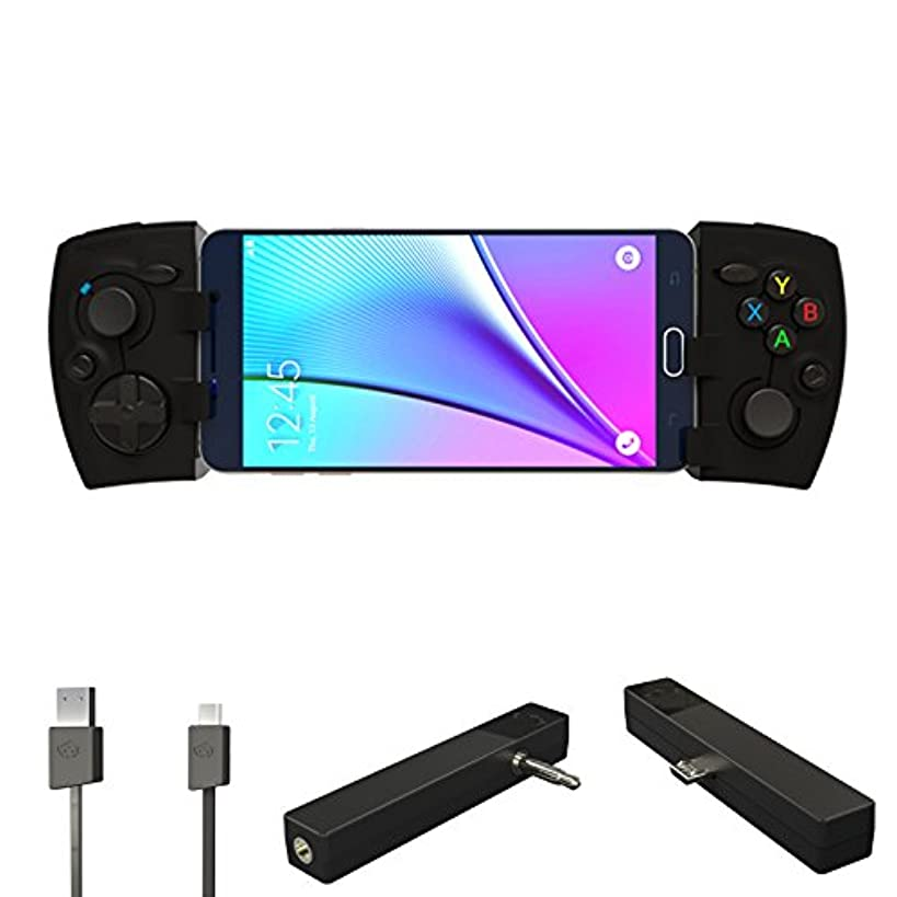 Phonejoy Bluetooth Game Controller for Android (Advanced Gamer Package) - Extendable Wireless Gamepad / Joystick for Android Devices