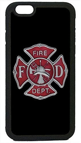 Firefighter Fire dept. Fireman Logo Symbol Black Case Cover Rubber Silicone Black Case Cover for New iPhone 8 Plus - 5.5' by Cell World LLC - Ships from Florida