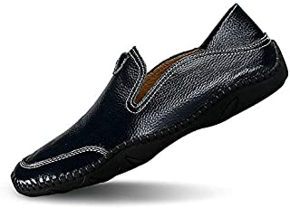 JIYE Men's Premium Genuine Leather Casual Slip-on Loafers...