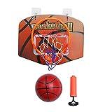 An der Wand montierter Basketballkorb Punch Free Faltbarer Basketballrahmen mit 2 Halterungen 2 Haken und 2 Basketbällen für Kinder Erwachsene Jugendliche