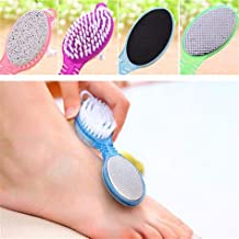 Colour Blast 4 In 1 Foot File With Pedicure And Manicure Brush Multi Use Pedicure Paddle Brush(Cleanse, Scrub, File And Bu...