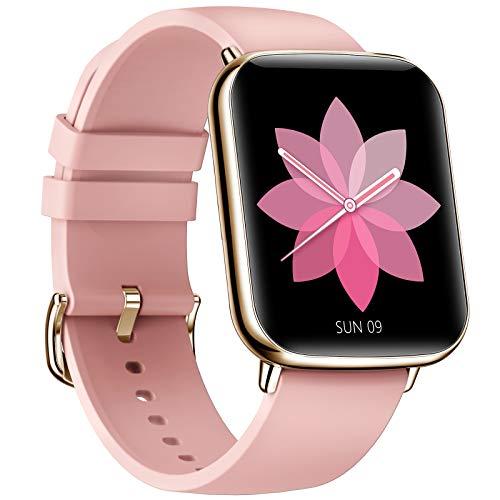 EIGIIS Smart Watch 1.69'' Reloj Inteligente para Mujeres Hombres con Pulsómetro Cronómetros Calorías Monitor de Sueño Podómetro Pulsera Actividad Inteligentes Reloj Deportivo