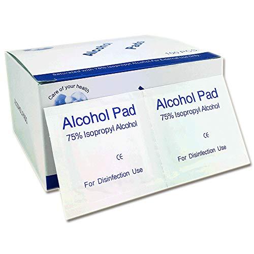 Toallitas Alcohol 6x6cm 75% De Alcohol Isopropílico Desinfección Para Hogar Oficina Médico,100 Unidades