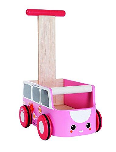 PLAN TOYS- Van Walker-Pink, 5185, Wood