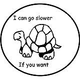 Personalidad Etiqueta engomada del coche Caravanas de tortuga Accesorios lindos Calcomanía reflectante Negro o astilla, 14 cm * 15 cm