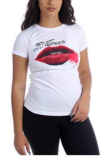 Red Hot Chili Peppers - - Lipstick Leichtes T-Shirt für Frauen, Small, White