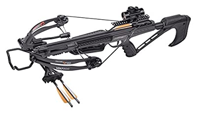 """CenterPoint Volt 300 Compound Crossbow with 3 20"""" Carbon Arrows, Compact"""