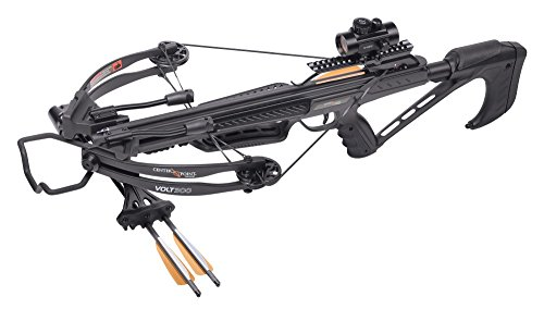 CenterPoint Volt 300 Compound Crossbow with 3 20' Carbon Arrows, Compact