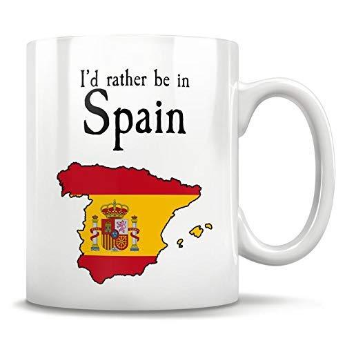 N\A Regalo de España, Taza de España, Visita España, Viaje a España, Explora España, Copa de España, Mapa de España, Regalo de Murcia, Taza de Amante de España, 11 oz