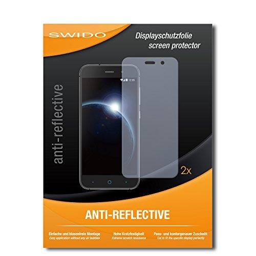SWIDO Schutzfolie für ZTE Blade V6 [2 Stück] Anti-Reflex MATT Entspiegelnd, Hoher Festigkeitgrad, Schutz vor Kratzer/Bildschirmschutz, Bildschirmschutzfolie, Panzerglas-Folie