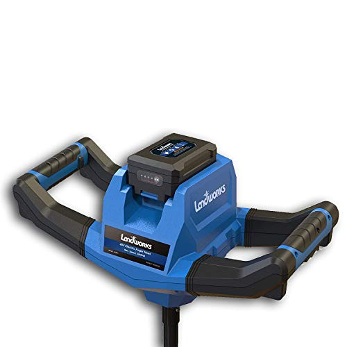 Landworks Earth Ice Auger Power Head Heavy Duty Eco-Friendly Electric with Brushless Motor 2Ah Battery and Charger Included (Auger Bit Sold Separately)