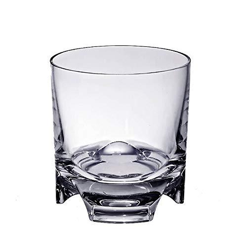 CRISTALICA Whiskyglas Drehbecher German Roulette Dresden ohne Dekor transparent aus Bleikristall 225ml