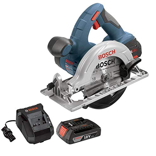 Bosch 18V 6.5in Cordless Circular Saw + Battery & Charger (Renewed)