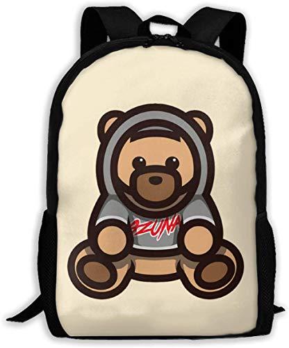 TTmom Mochilas Tipo Casual,Bolsa de Viaje Ozuna Bear Logo Unisex Backpack Shoulder Bag School Backpack Travel Bags Laptop Backpack