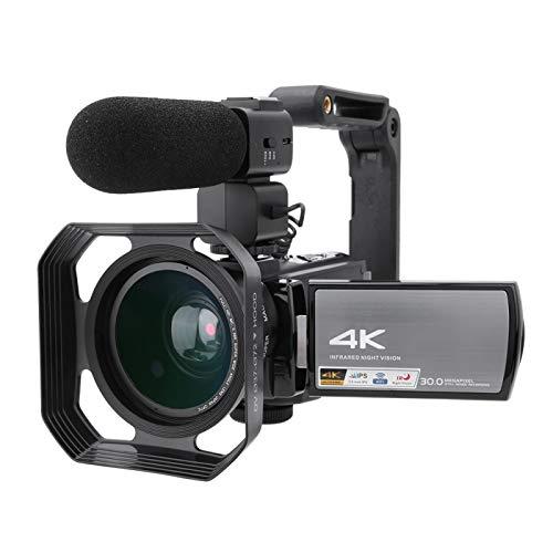 4K HD Video Vlog Camera, HD Digital Hand Camera 16X Zoom WiFi 3.0inch Touch Screen IR Night Vision App Control Remoto(#2)