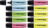 Textmarker - STABILO BOSS ORIGINAL - 4x gelb, 2x blau, grün, pink