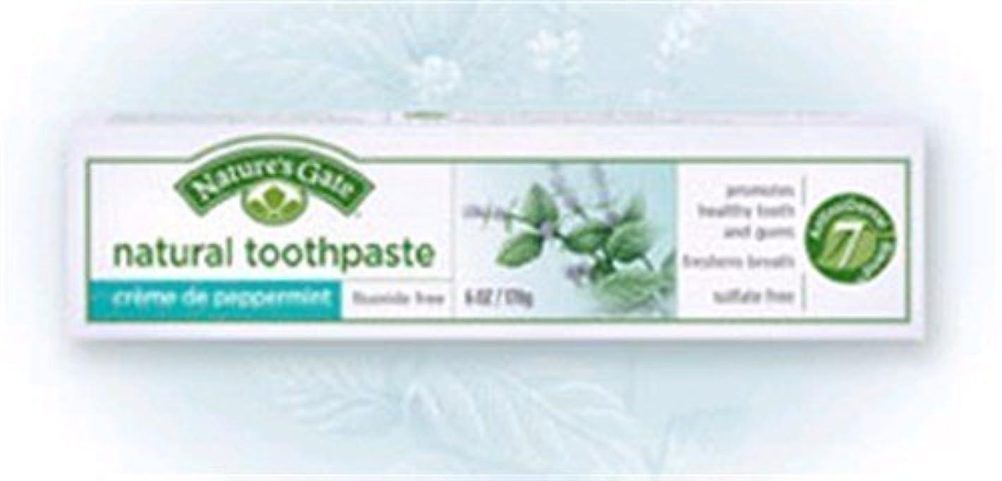 流用する同時かすれたCreme de Peppermint Natural Toothpaste 6 Ounces by Nature's Gate [並行輸入品]