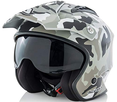 casco Jet aire Camo/Brown S