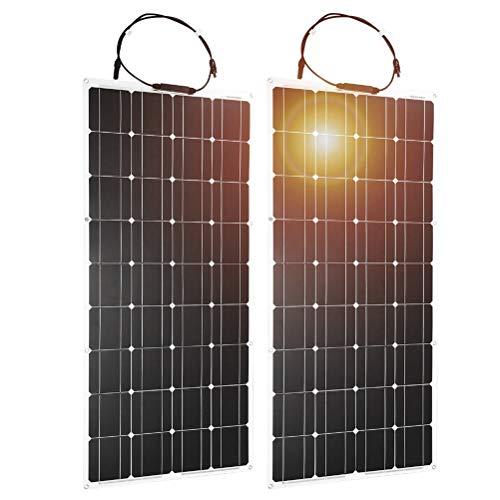 Paneles solares 2PCS-10PCS 12V 100W Panel Solar Monocristalino Flexible para Batería De Coche Y Barco Y Hogar 200w 300w 1000w 18V Panel Solar China (Color : 8pcs)